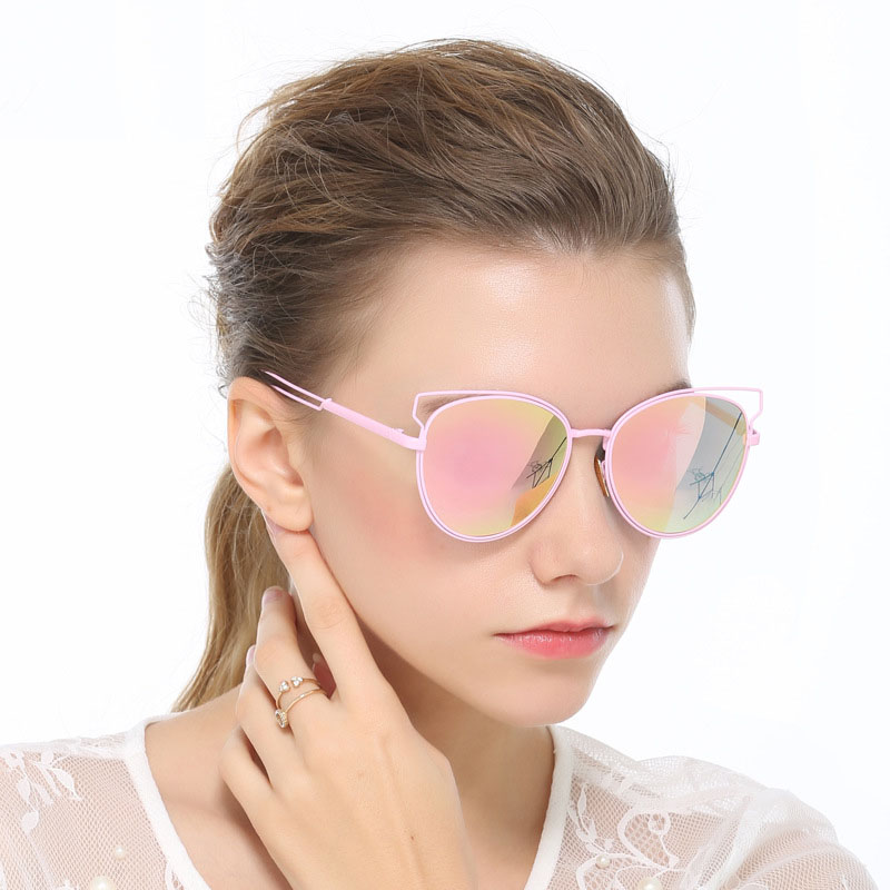 eac3753192  Marte Joven  Summer Style Steampunk Metal Nose Pad Cat Eye Sunglasses For  Women Mirrored Anti Glare Driving Sun Glasses Girls-in Sunglasses from  Apparel ...