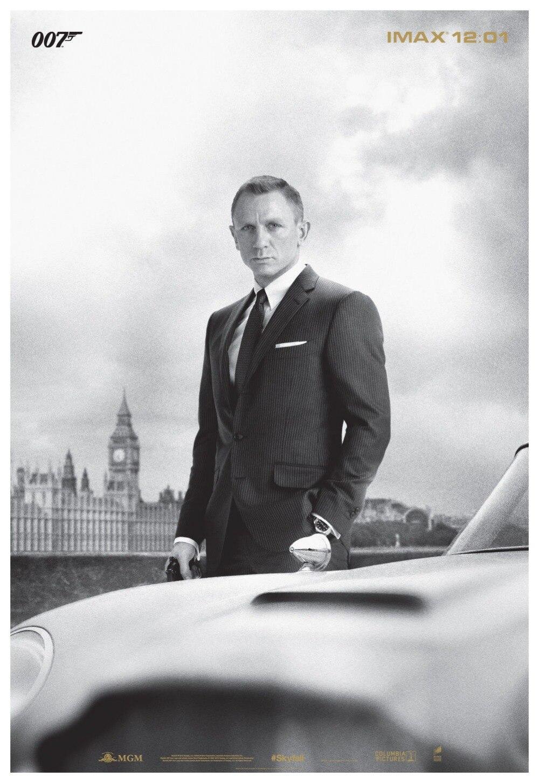 James Bond 007 Hot Movie Art Silk Poster Canvas Print 12x18 24x36 inch