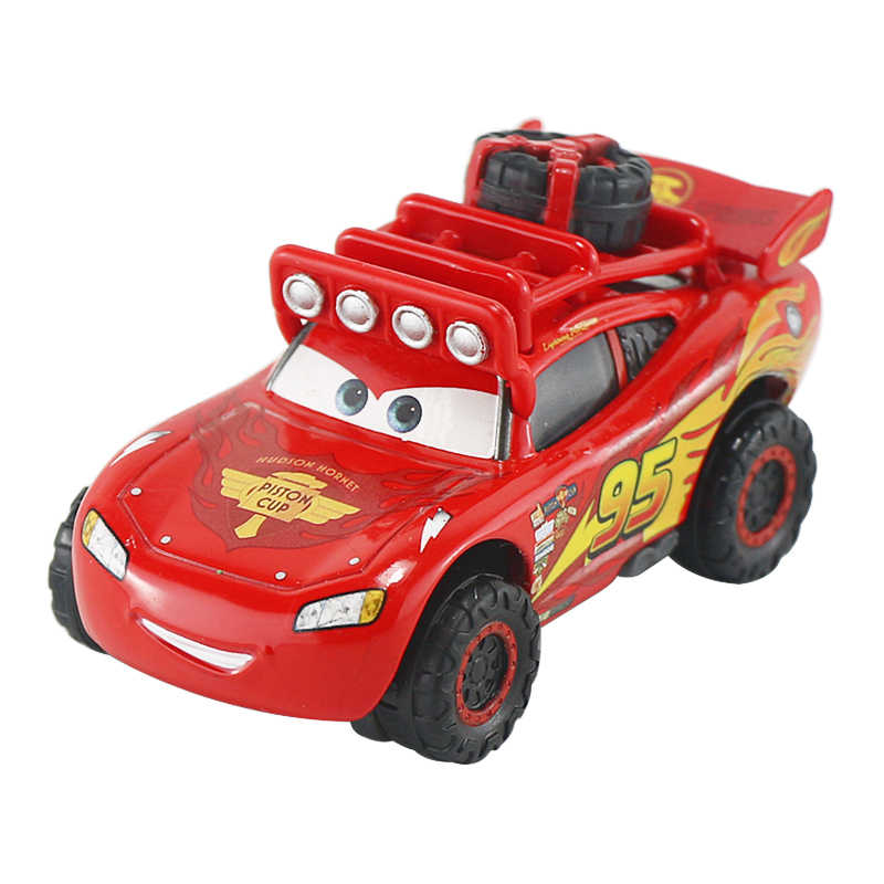 1:55 Disney Pixar Cars 2 Lightning Mcqueen The Kings Chick Hick Mater Mack Uncle All Disney Cartoon Figures Model Toys Vehicles