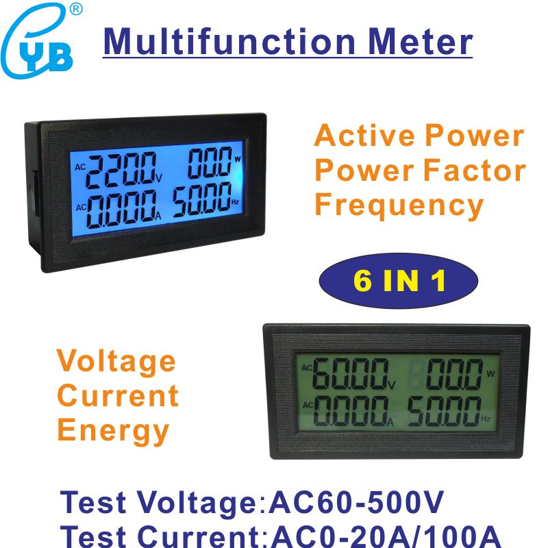 Electrical Instruments Ac Lcd Digital Current Meter Ampere Meter Ac 50a Ammeter Ac Amp Panel Meter Include 50a Ct Transformer Current Sensor Icl7107