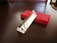 Треугольная призма 10 см x 3 см Радужное Оптическое стекло N-BK7 прямоугольный отражающий для обучения светового спектра с подарочной коробкой