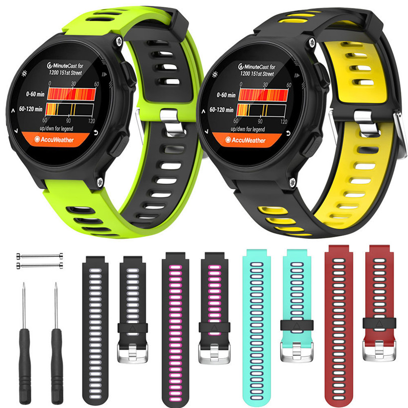 CARPRIE Wristband For Garmin Forerunner 735XT Watch Soft Silicone Strap Replacement Watch Band For Garmin Forerunner 735XT Watch