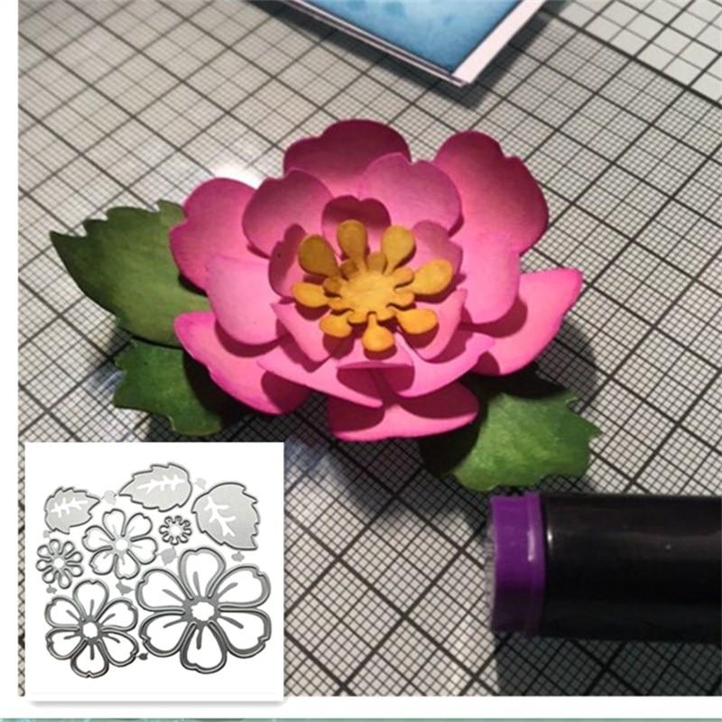 8pc Flower Metal Cutting Dies Cut Die Mold Flowers  Scrapbook Paper Craft Knife Mould Blade Punch Stencils Dies