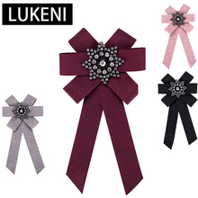 Luxury Multilayer Bowknot Cloth Brooches for Men Women Clip Up Pins Rhinestone Bow Tie Charm Statement Brooch New Design Jewelry