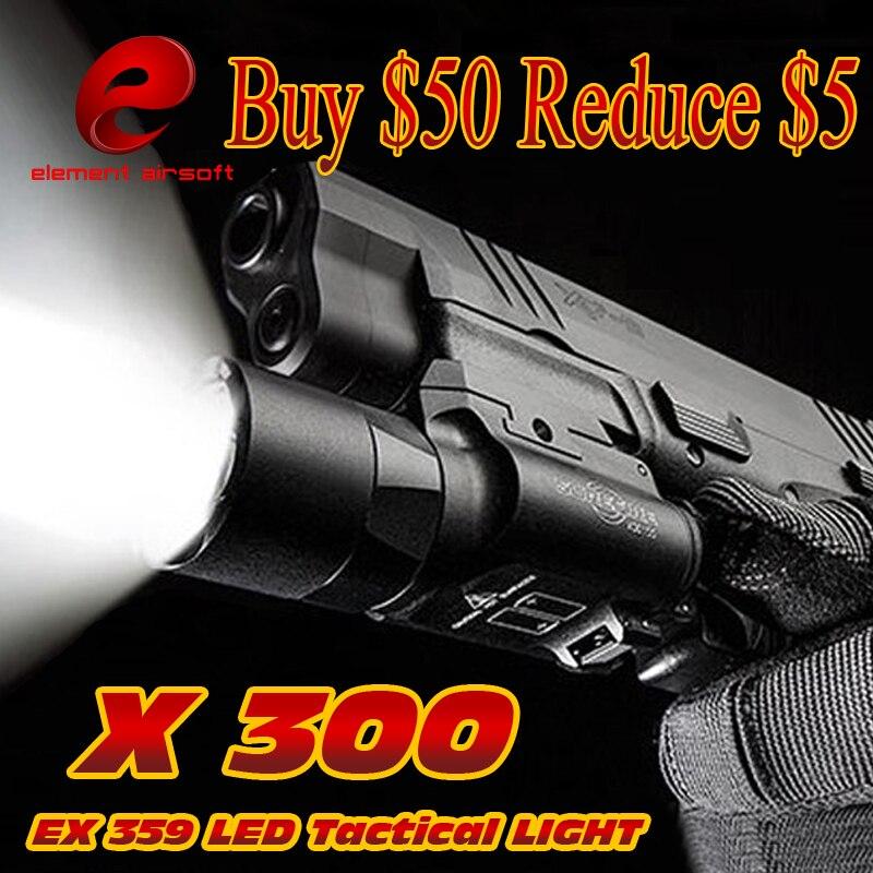 Elemento táctico Surefir X300 LED Arma Luz Waffe lanterna Airsoft - Caza - foto 1