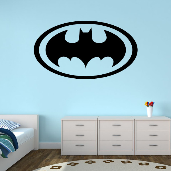 Superbe New Design Batman Logo Wall Stickers For Bedroom Vinyl Baby Boy Nursery Wall  Decal Waterproof Removable For Kids Rooms ZA027 In Wall Stickers From Home  ...