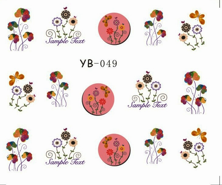 1X  Nail Sticker Large Flower Water Transfers Stickers Nail Decals Stickers Water Decal Opp Sleeve Packing YB49-54 аккумулятор yoobao yb 6014 10400mah green