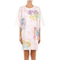 2018 New Summer Runway Designer Women T Shirts Rainbow Lovely Horse Print Pink Top Tee harajuku