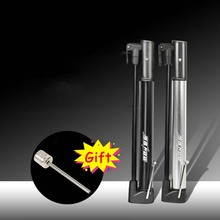 Aluminum Alloy Bicycle Pump Floor-mounted Mini High Pressure Gas Cylinder Portable Bike MTB Mountain Road Pumps