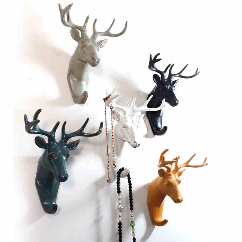 Aliexpress Com Buy Retro Vintage Deer Head Resin Hanger