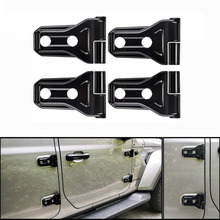 Chuang Qian 4pcs Black ABS Door Hinge Cover Protection Accessories for Newest Jeep Wrangler 2018 JL 2-Door