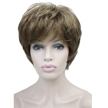 StrongBeauty женские парики натуральный пушистый пепельный блонд короткие прямые волосы синтетический полный парик 7 цветов