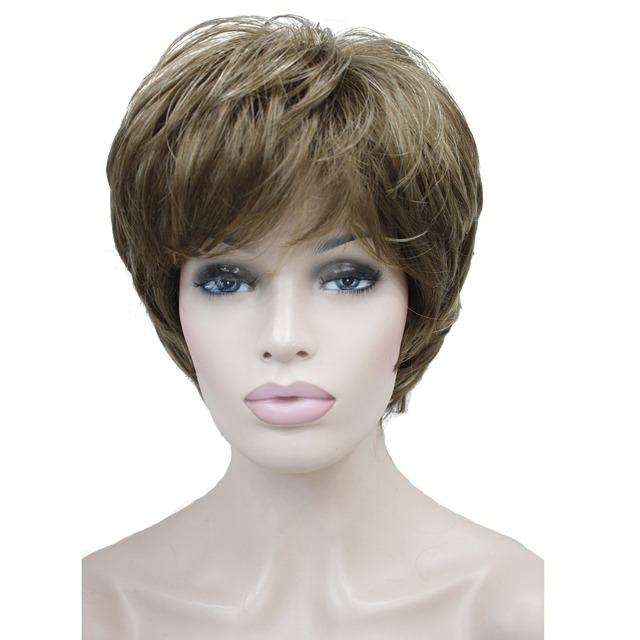 Strongbeauty Women S Wigs Natural Fluffy Ash Blonde Short Straight Hair Synthetic Full Wig 7 Color