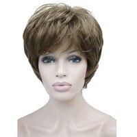 StrongBeauty delle Donne Parrucche Soffici Naturale Cenere Biondi Capelli Lisci Parrucca Piena Sintetica 7 Colori