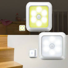 LED Light Sensor Night Lamp Stair Inner Hinge Cabinet Drawer Battery Powered(China)