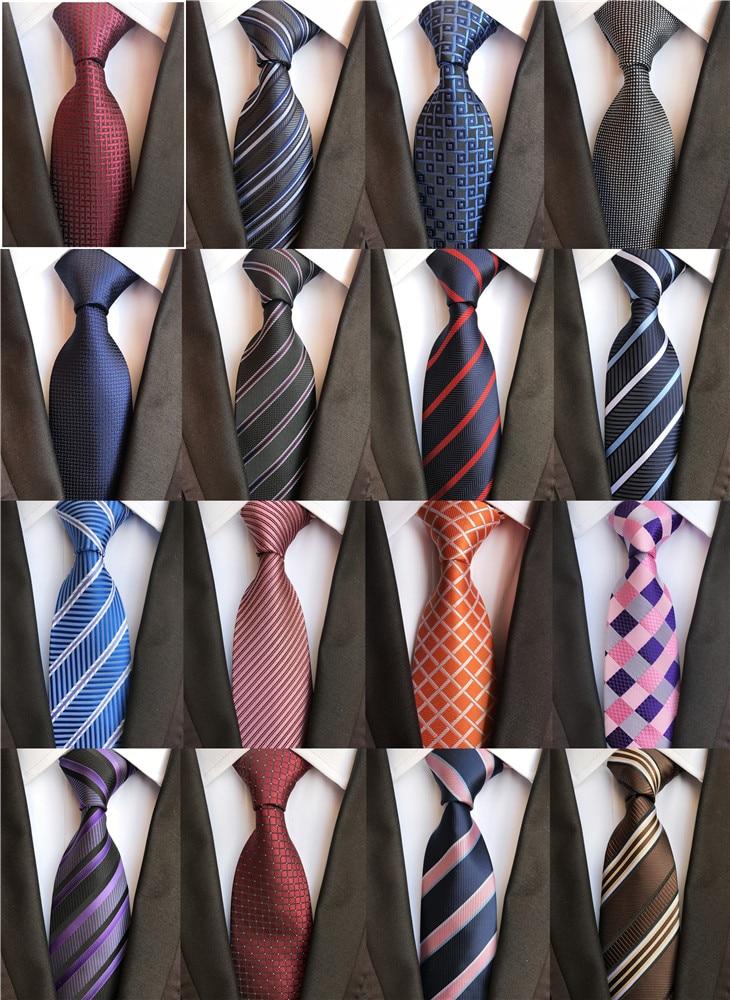 Clássico 8cm laços para o homem 100% gravata de seda luxo listrado xadrez cheques negócios pescoço gravata para homem terno cravat casamento festa gravatas