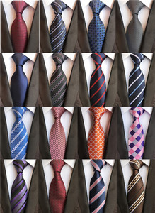 Classic 8cm Ties for Man 100% Silk Tie Luxury Striped Plaid Checks Business Neck Tie for Men Suit Cravat Wedding Party Neckties(China)