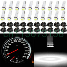 20 Пак ксенон белый автомобиль T5 Клин 17 37 70 5050 1SMD светодиодная приборная панель кластерная вилка лампа тире светильник Лампочки w/Twist Sock