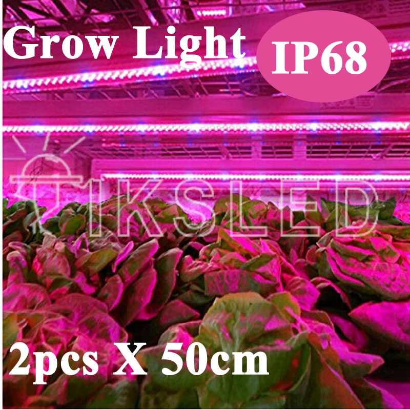 2pcs Grow LED Rigid Strip Light 5:1 5 Red 1 Blue Aquarium Greenhouse Hydroponic Plant Growing Lamp