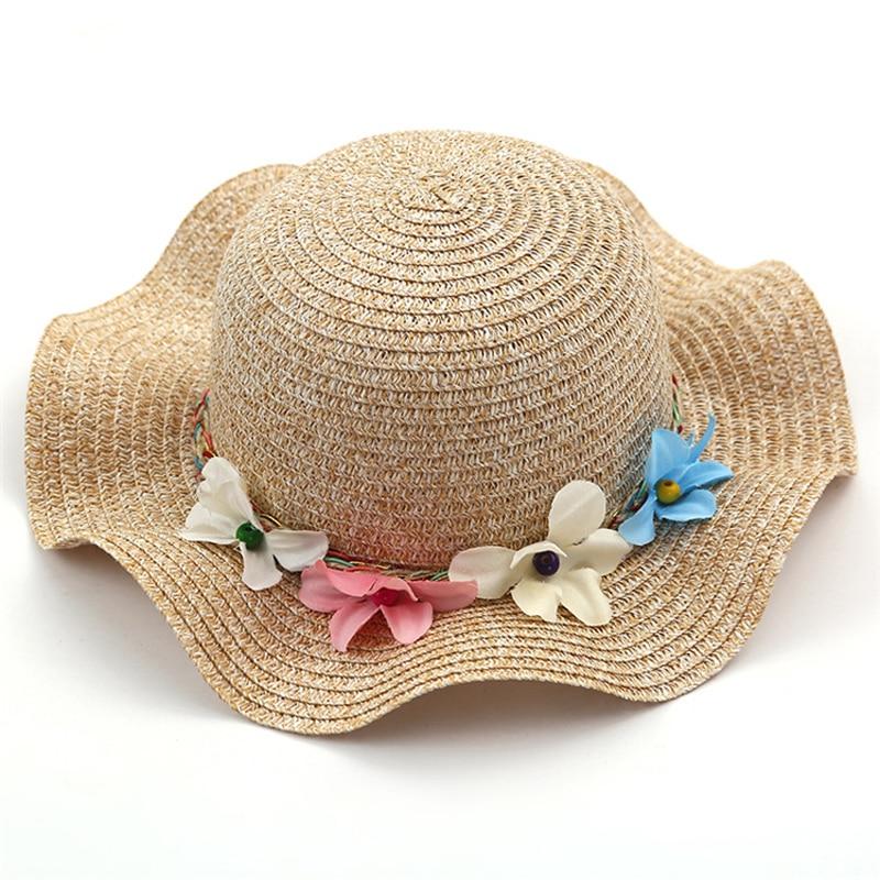 Nowa moda Dziecko Dziewczęta i Mama Słoma Kwiaty Kapelusz - Odzież dla niemowląt - Zdjęcie 5
