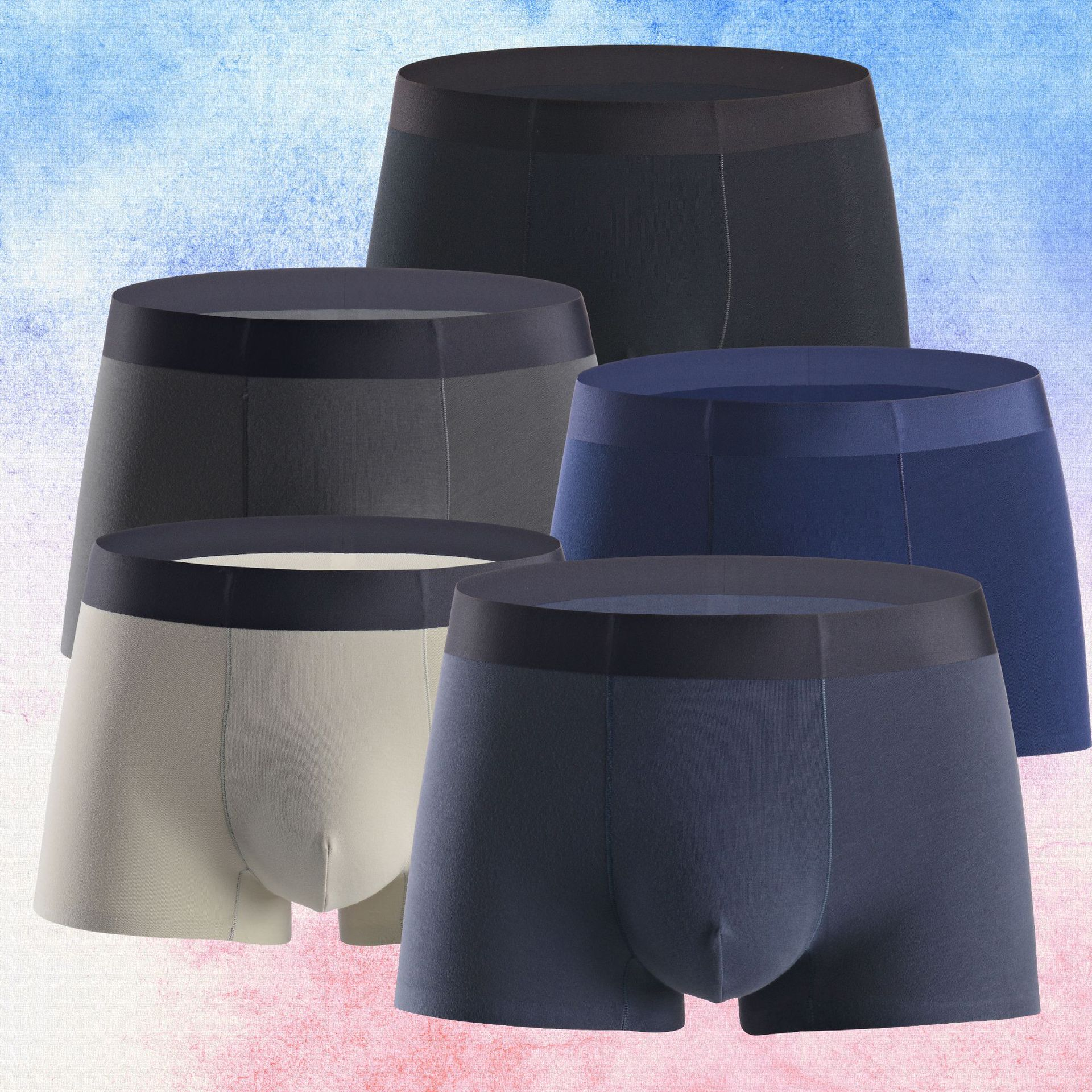 Men's cotton underwear cotton men's boxers solid color comfortable men's underwear