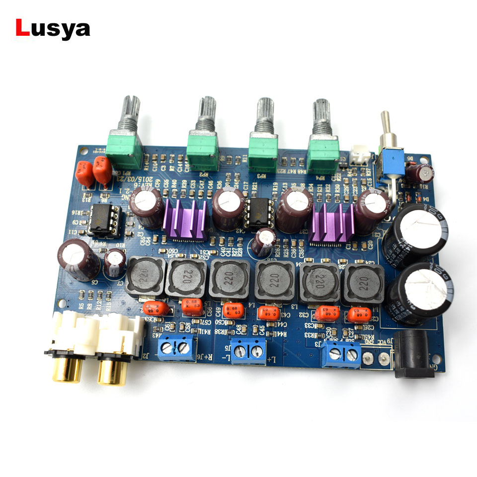 <font><b>TPA3116D2</b></font> <font><b>2.1</b></font> <font><b>Subwoofer</b></font> power Amplifier Board 50W+50W+100W Digital Amplifier Car AMP Power Amplifiers Board 12V - 25V D5-007 image