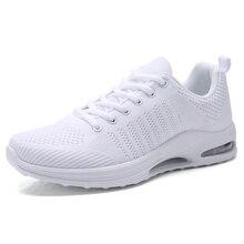 c579f6207 وسادة هوائية أحذية رجالي النقي الأبيض أحذية رياضية المشي الركض رياضية شبكة  تنفس أحذية(China