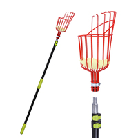BESTONZON Fruit Picker with 3.6M Telescoping Disassembly Pole Fruit Catcher with Basket Gardening Apple Pear Peach Picking Tool