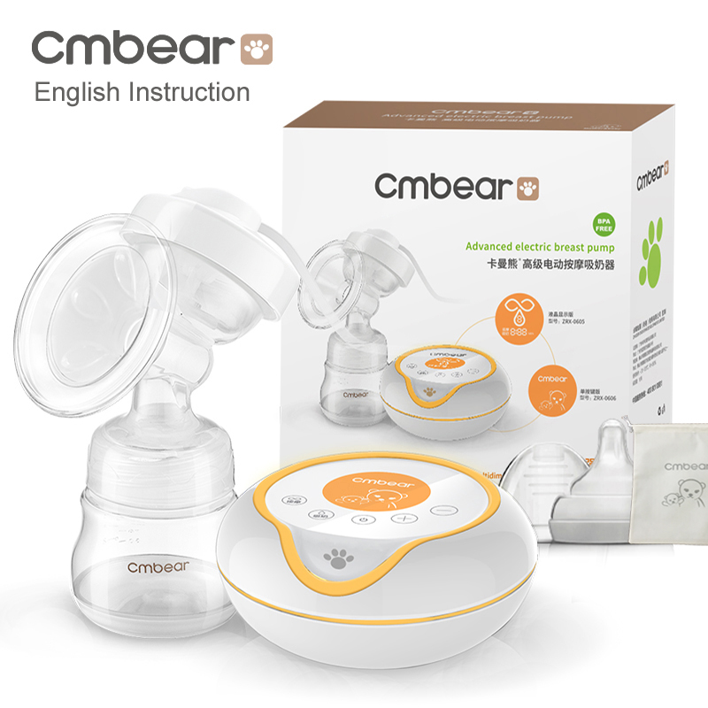 2020 Large Suction USB Electric Breast Pump Breast Feeding Advanced Automatic Massage Electric Breast Pumps Baby Bottles ZRX0606