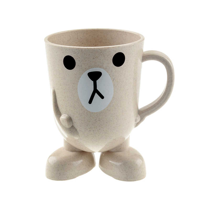 1 шт. прекрасный мультфильм молоко кофейная чашка дети мультфильм Стиральная чашка держатель для зубной щетки ванная комната полоскание кружка Детские тренировочные чашки