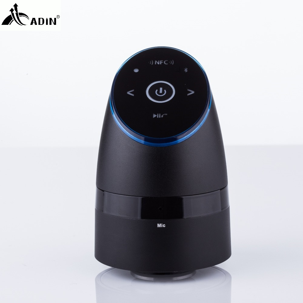 ADIN Metal Vibration Speakers 26W NFC Bluetooth Hands-free Phone Call Subwoofer Mini Computer Speaker 360  Stereo Bass Speakers adin 26w metal vibration bluetooth subwoofer speaker nfc touch hifi portable mini wireless speaker 360 stereo sound loudspeakers