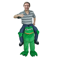 Shoulder Ride On Piggy Back Ride On costume Fancy Dress Adult Party Costume Mens Mascot for Halloween Purim Animals Cosplay