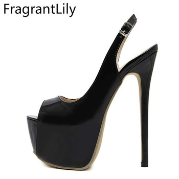 FgrantLilray 2018 new style hot Women fashion sexy 16cm high heel temperament fish mouth shoes woman Single shoes platform