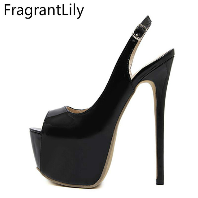 FgrantLilray 2018 New Style Hot Women Fashion Sexy 16cm Hgh Heel  Temperament Fish Mouth Shoes Woman Single Shoes Platform 67f5bab2daf8