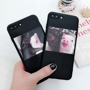 Funny Pig Cartoon Couple Cases For iPhone