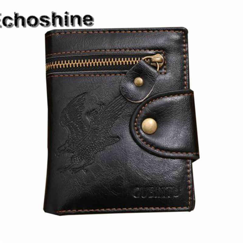 цена  2016 New Fashion Billfold Purse Wallet Men Mini Zipper Leather Credit Card Coin Holder Small Mini Ultra-thin Wallet wholesale  онлайн в 2017 году