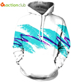 ACTIONCLUB 2017 Spring New Fashion Mens Hoodies And Sweatshirts 3D Print White Blue Simple Valentine's Coats Casual Sportswear