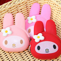 Coin Purse Candy Color Bunny Cat Silicone Women's Purse Cartoon Rabbit Children Bags For Girls Women Smart Wallets