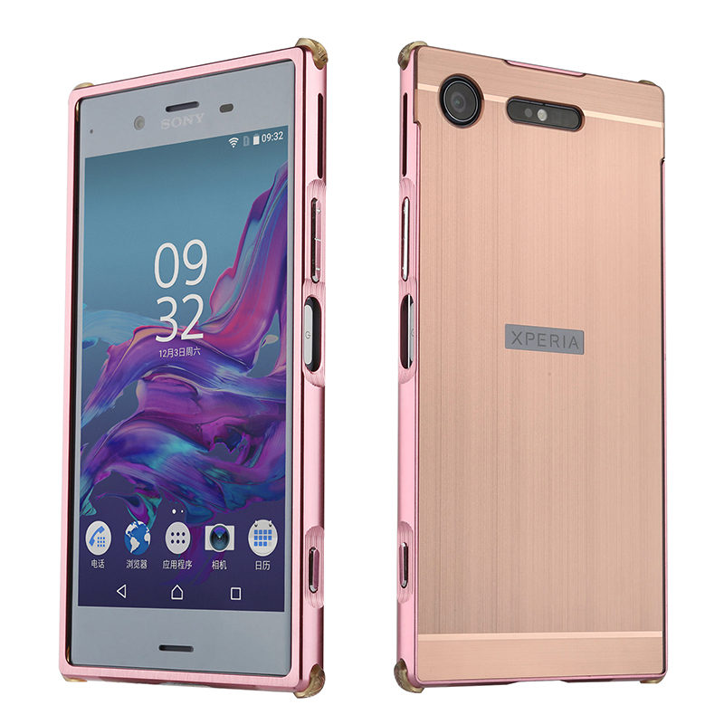 luxury aluminum metal frame bumper for sony xperia xz1 compact mini case pc hard back cover for. Black Bedroom Furniture Sets. Home Design Ideas