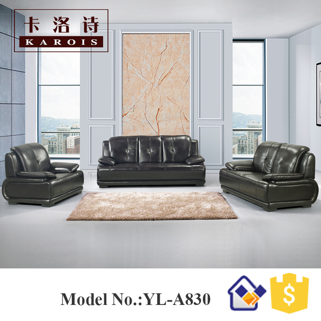 Delicieux Best Sell Black Leather Modern Kuka Home Goods Patio Furniture Leather Sofa