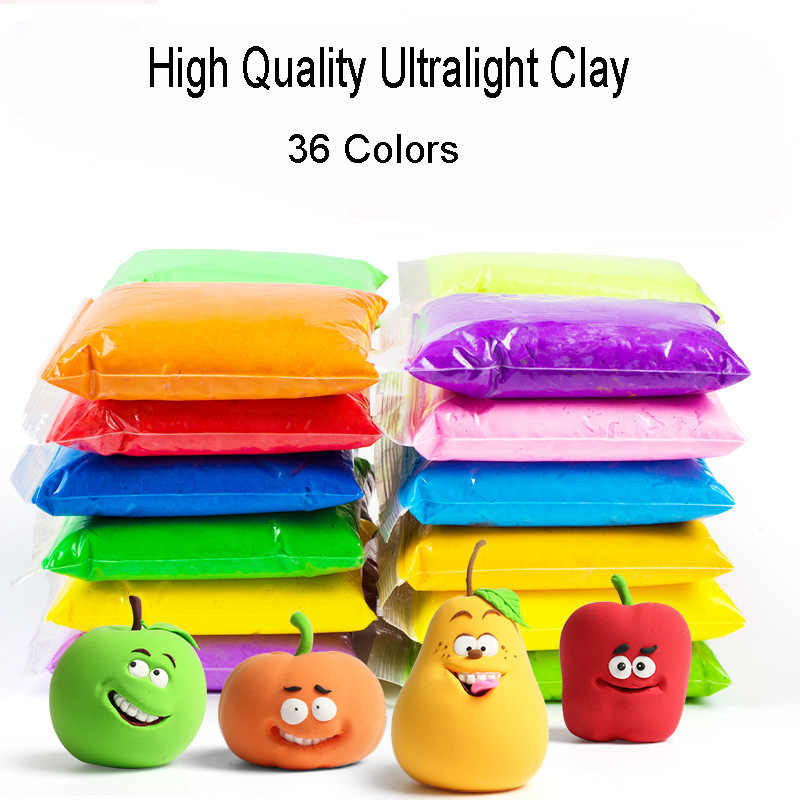 36 Color Air Dry Light Clay With 3 Tool Educational Toy Plasticine Polymer Creative DIY Toy Kid Girl Birthday Gift Modeling Clay