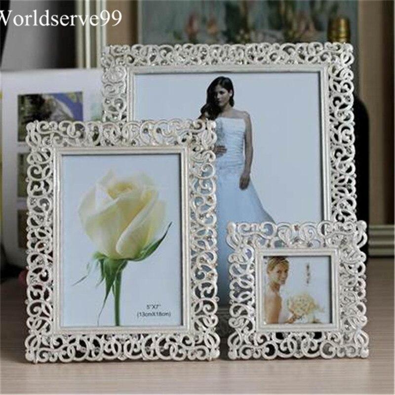 10inch Alloy Rhinestone Wedding Photo Frames Home Decor Bridal Baby