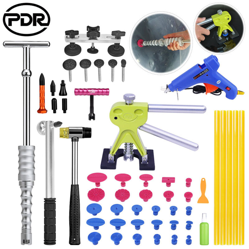 PDR Tools Paintless Dent Repair Tools Dent Lifter Slide Hammer Glue Gun Metal  amp  Nylon Knock Down Pen Removing Dents Tool