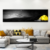 Nordic Poster Black And White Wall Art Canvas Yellow Bridge Stone Tree Painting Modern Minimalist Wall Pictures For Living Room