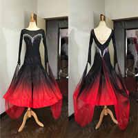 GOODANPAR Neue Stil Float Lycra Ballsaal Kleid Frauen Wettbewerb Flamenco Walzer Kostüm Standard Tanz Kleid Mit Body Bh