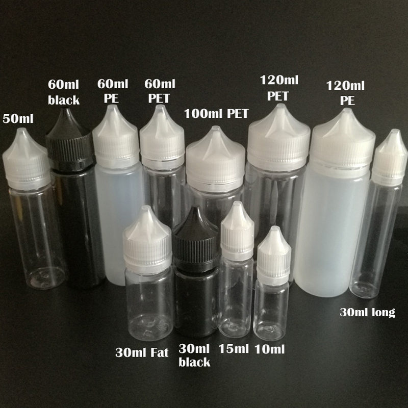 50pcs Empty E Liquid Bottle 10ml 15ml 30ml 50ml 60ml 100ml 120ml Pen Shape Dropper Bottle With Tamper Evident Cap E juice Bottle беседка hov white