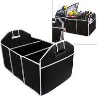 Home Car Seat Organizer Trash Bin AUTO Trunk Cargo Collapsible Storage Black Folding Zakka Boxes Sundries