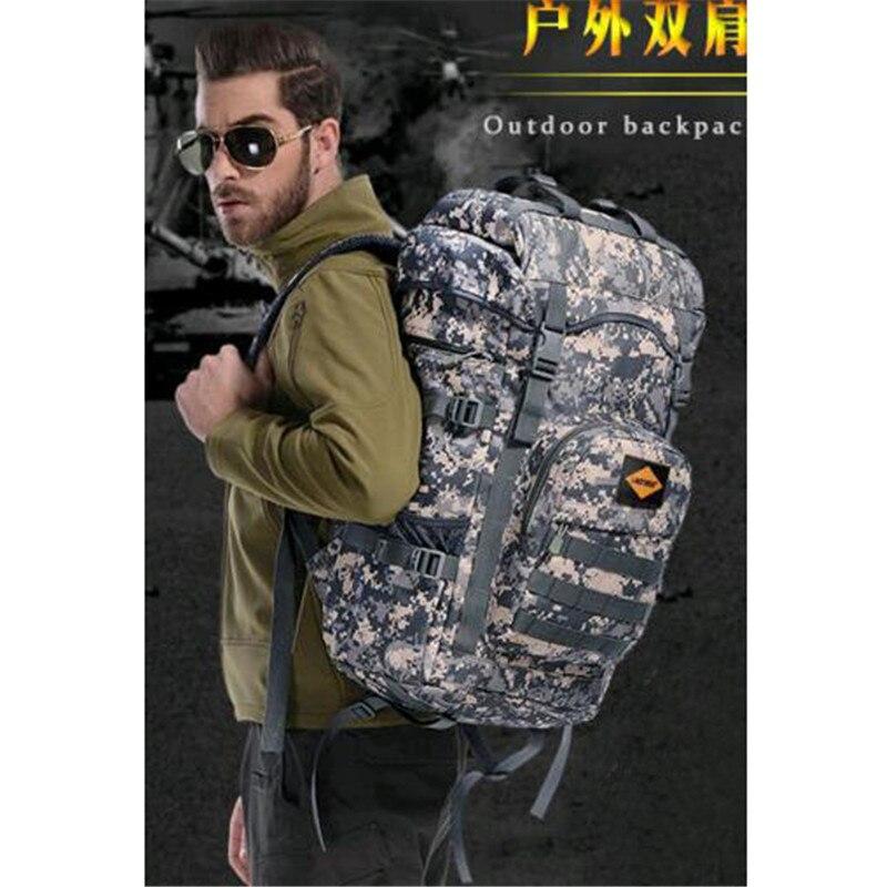 60 litres bags bag multi-purpose travel backpack large 3D Military 17Laptop nylon Leisure Bag high grade wearproof Dual-use bag