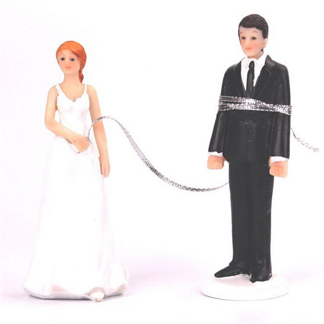 c654b622a2 US $16.65 |1SET Escape Marriage Bride and Groom Toppers Couple Figurine  Funny Topper for Wedding Cake Decoration-in Cake Decorating Supplies from  Home ...