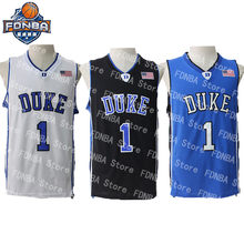 5368952f Cheap Kyrie Irving Jersey Ball #1 Men Duke Basketball Jersey Breathable  Throwback Jerseys Stitch Retro USA College Basket Shirts